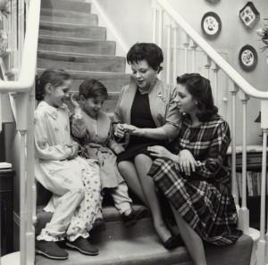 NPG x136330; Judy Garland; Liza Minnelli; Lorna Luft and Joey Luft by Bob Collins