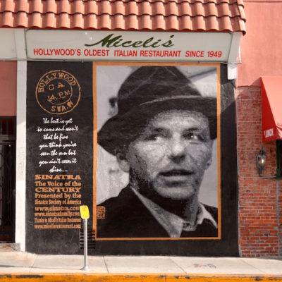 Frank Sinatra mural outside Miceli's